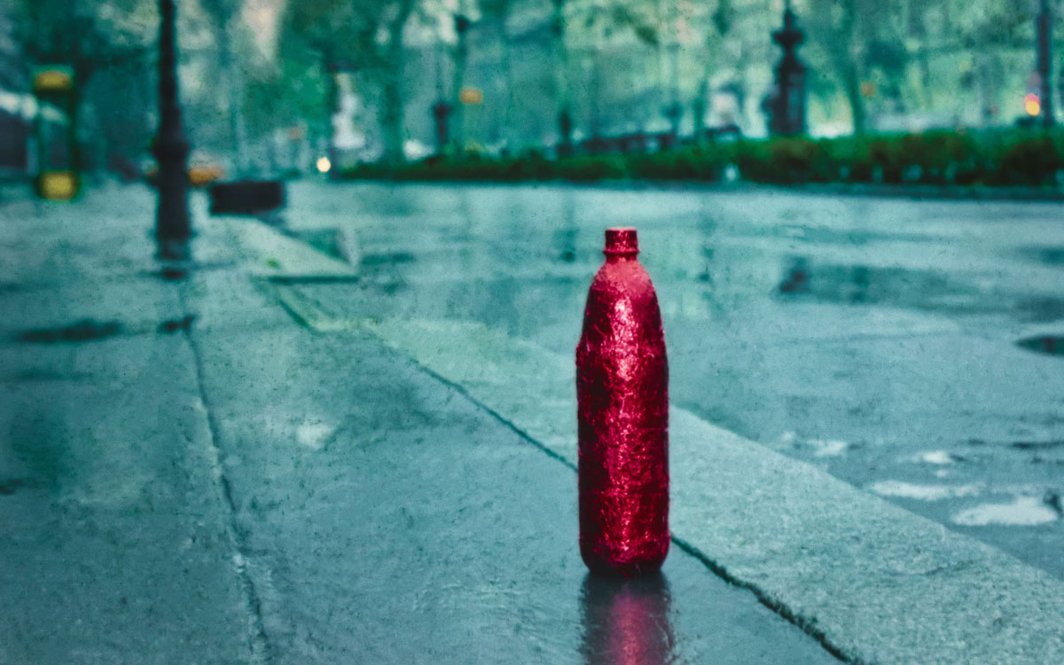 walking a bottle diva through budapest havadi istvan fine art photography